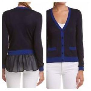 CAbi #5016  Sweater Cardigan Navy Large